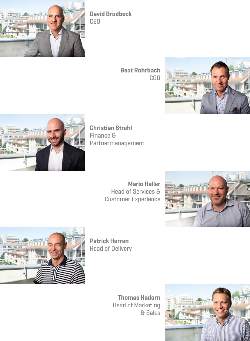 David Brodbeck, Beat Rohrbach, Christian Strehl, Mario Haller, Patrick Herren, Thomas Hadorn